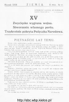 Ziemia : dwutygodnik krajoznawczy ilustrowany 1933, R.XXIII, nr 11