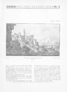 Ziemia : ilustrowany miesięcznik 1934, R.XXIV, nr 5