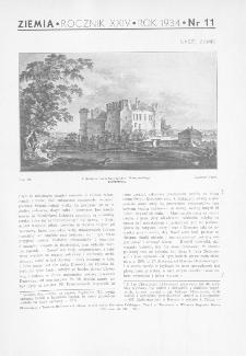 Ziemia : ilustrowany miesięcznik 1934, R.XXIV, nr 11