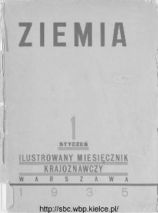 Ziemia : ilustrowany miesięcznik krajoznawczy 1935, R.XXV, spis treści
