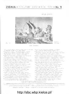 Ziemia : ilustrowany miesięcznik krajoznawczy 1936, R.XXVI, nr 9