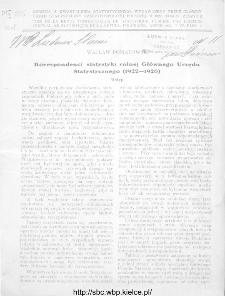 Wiadomości Statystyczne Głównego Urzędu Statystycznego 1927, T.IV, z.2
