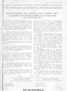 Wiadomości Statystyczne Głównego Urzędu Statystycznego 1931