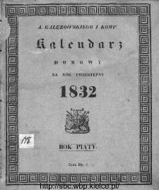 A. Gałęzowskiego i Spółki Kalendarz Domowy i Gospodarski na Rok Zwyczajny ... : na południk warszawski ułożony.1832