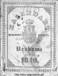 Kalendarz Polski, Ruski, Astronomiczno-Gospodarski i Domowy na Rok Pański... : w którym znajduje się wiele ciekawych i [..] pożytecznych wiadomości : na sposób F. X. Ryszkowskiego 1840