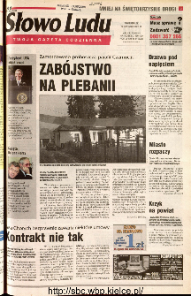 Słowo Ludu 2001 R.LII, nr 18 (Kielce region)