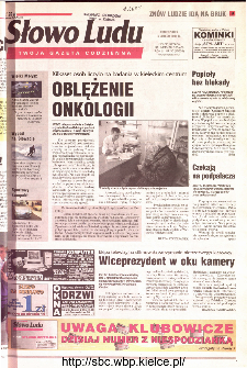 Słowo Ludu 2001 R.LII, nr 30 (Kielce region)