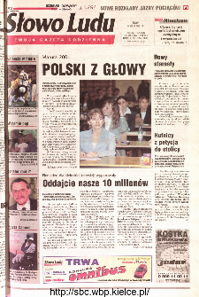 Słowo Ludu 2001 R.LII, nr 106 (Kielce region)