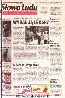 Słowo Ludu 2001 R.LII, nr 109 (Kielce region)