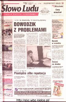 Słowo Ludu 2001 R.LII, nr 112 (Ponidzie, Jędrzejów, Włoszczowa,Sandomierz, Staszów, Opatów)