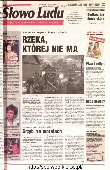 Słowo Ludu 2001 R.LII, nr 113 (Ponidzie, Jędrzejów, Włoszczowa,Sandomierz, Staszów, Opatów)
