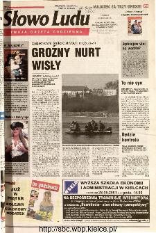 Słowo Ludu 2001 R.LII, nr 119 (Ponidzie, Jędrzejów, Włoszczowa,Sandomierz, Staszów, Opatów)