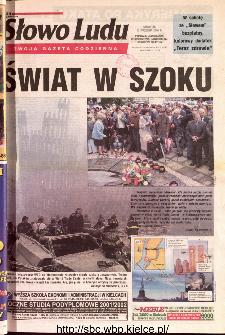 Słowo Ludu 2001 R.LII, nr 213 (Ponidzie, Jędrzejów, Włoszczowa,Sandomierz, Staszów, Opatów)