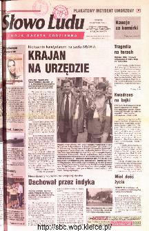 Słowo Ludu 2001 R.LII, nr 219 (Ponidzie, Jędrzejów, Włoszczowa,Sandomierz, Staszów, Opatów)
