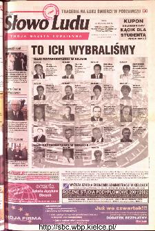 Słowo Ludu 2001 R.LII, nr 224 (Ponidzie, Jędrzejów, Włoszczowa,Sandomierz, Staszów, Opatów)