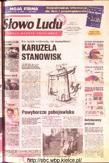 Słowo Ludu 2001 R.LII, nr 225 (Ponidzie, Jędrzejów, Włoszczowa,Sandomierz, Staszów, Opatów)