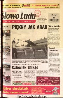 Słowo Ludu 2001 R.LII, nr 229 (Ponidzie, Jędrzejów, Włoszczowa,Sandomierz, Staszów, Opatów)