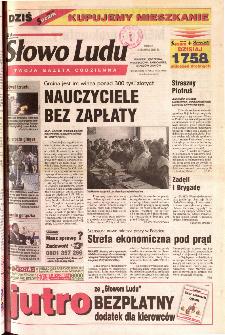 Słowo Ludu 2001 R.LII, nr 282 (Ponidzie, Jędrzejów, Włoszczowa,Sandomierz, Staszów, Opatów)