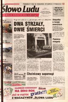 Słowo Ludu 2001 R.LII, nr 289 (Ponidzie, Jędrzejów, Włoszczowa,Sandomierz, Staszów, Opatów)