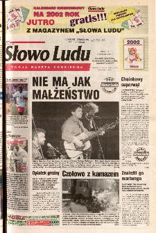 Słowo Ludu 2001 R.LII, nr 290 (Ponidzie, Jędrzejów, Włoszczowa,Sandomierz, Staszów, Opatów)