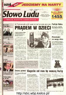 Słowo Ludu 2002 R.LIV, nr 6 (Ponidzie, Jędrzejów, Włoszczowa,Sandomierz, Staszów, Opatów)