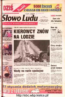 Słowo Ludu 2002 R.LIV, nr 18 (Ponidzie, Jędrzejów, Włoszczowa,Sandomierz, Staszów, Opatów)
