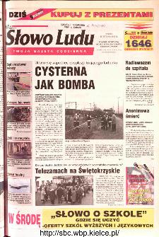 Słowo Ludu 2002 R.LIV, nr 24 (Ponidzie, Jędrzejów, Włoszczowa,Sandomierz, Staszów, Opatów)