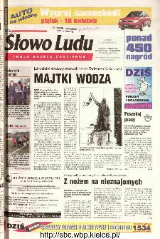 Słowo Ludu 2002 R.LIV, nr 88 (Ponidzie, Jędrzejów, Włoszczowa,Sandomierz, Staszów, Opatów)