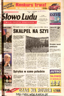 Słowo Ludu 2002 R.LIV, nr 94 (Ponidzie, Jędrzejów, Włoszczowa,Sandomierz, Staszów, Opatów)