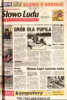 Słowo Ludu 2002 R.LIV, nr 95 (Ponidzie, Jędrzejów, Włoszczowa,Sandomierz, Staszów, Opatów)