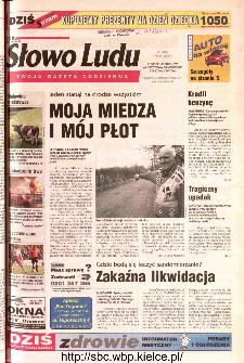 Słowo Ludu 2002 R.LIV, nr 104 (Ponidzie, Jędrzejów, Włoszczowa,Sandomierz, Staszów, Opatów)