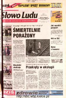 Słowo Ludu 2002 R.LIV, nr 116 (Ponidzie, Jędrzejów, Włoszczowa,Sandomierz, Staszów, Opatów)