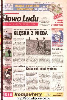 Słowo Ludu 2002 R.LIV, nr 129 (Ponidzie, Jędrzejów, Włoszczowa,Sandomierz, Staszów, Opatów)