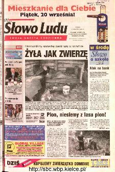 Słowo Ludu 2002 R.LIV, nr 210 (Ponidzie, Jędrzejów, Włoszczowa,Sandomierz, Staszów, Opatów)