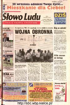 Słowo Ludu 2002 R.LIV, nr 211 (Ponidzie, Jędrzejów, Włoszczowa,Sandomierz, Staszów, Opatów)