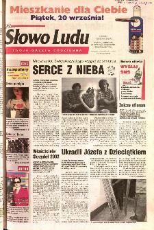 Słowo Ludu 2002 R.LIV, nr 212 (Ponidzie, Jędrzejów, Włoszczowa,Sandomierz, Staszów, Opatów)