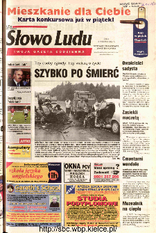 Słowo Ludu 2002 R.LIV, nr 217 (Ponidzie, Jędrzejów, Włoszczowa,Sandomierz, Staszów, Opatów)