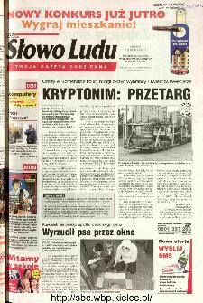 Słowo Ludu 2002 R.LIV, nr 218 (Ponidzie, Jędrzejów, Włoszczowa,Sandomierz, Staszów, Opatów)