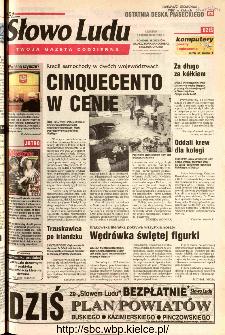 Słowo Ludu 2002 R.LIV, nr 230 (Ponidzie, Jędrzejów, Włoszczowa,Sandomierz, Staszów, Opatów)