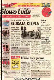 Słowo Ludu 2002 R.LIV, nr 240 (Ponidzie, Jędrzejów, Włoszczowa,Sandomierz, Staszów, Opatów)
