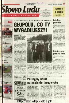 Słowo Ludu 2002 R.LIV, nr 247 (Ponidzie, Jędrzejów, Włoszczowa,Sandomierz, Staszów, Opatów)