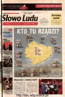 Słowo Ludu 2002 R.LIV, nr 252 (Ponidzie, Jędrzejów, Włoszczowa,Sandomierz, Staszów, Opatów)