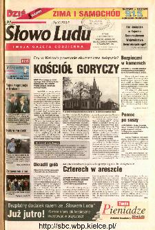 Słowo Ludu 2002 R.LIV, nr 257 (Ponidzie, Jędrzejów, Włoszczowa,Sandomierz, Staszów, Opatów)