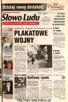 Słowo Ludu 2002 R.LIV, nr 258 (Ponidzie, Jędrzejów, Włoszczowa,Sandomierz, Staszów, Opatów)