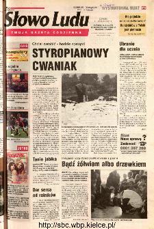 Słowo Ludu 2002 R.LIV, nr 270 (Ponidzie, Jędrzejów, Włoszczowa,Sandomierz, Staszów, Opatów)