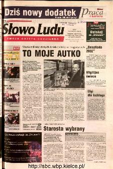 Słowo Ludu 2002 R.LIV, nr 275 (Ponidzie, Jędrzejów, Włoszczowa,Sandomierz, Staszów, Opatów)