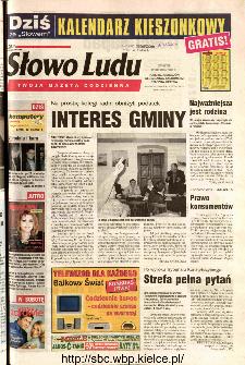 Słowo Ludu 2002 R.LIV, nr 288 (Ponidzie, Jędrzejów, Włoszczowa,Sandomierz, Staszów, Opatów)