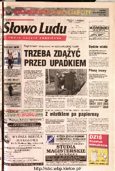 Słowo Ludu 2002 R.LIV, nr 43 (Ostrowiec, Starachowice, Skarżysko, Końskie)