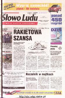 Słowo Ludu 2002 R.LIV, nr 88 (Ostrowiec, Starachowice, Skarżysko, Końskie)