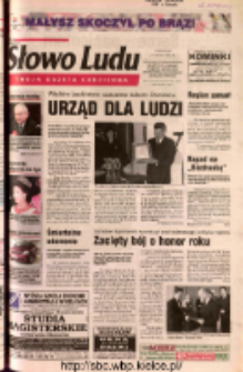 Słowo Ludu 2002 R.LIV, nr 35 (Ostrowiec, Starachowice, Skarżysko, Końskie, Ponidzie, Jędrzejów, Włoszczowa, Sandomierz, Staszów, Opatów)